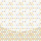 Polka dot background, pattern, pastel dot on white Stock Photos