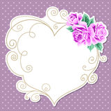 Polka dot background with roses Royalty Free Stock Photo