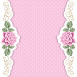 Polka dot background with roses Royalty Free Stock Photos