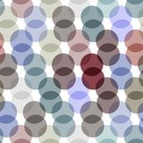 Polka dot background, seamless pattern. Pastel color dot on white background. Vector Royalty Free Stock Photography