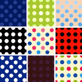 Polka dot background set Stock Image