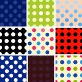 Polka dot background set. Polka dot multicolored background isolated set Stock Image