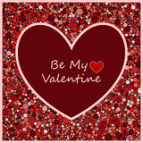 Polka dot background . Valentines Day Lettering Card Stock Image