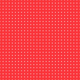 Polka dot background, vector seamless pattern. The white circles on a red backdrop. For the design of the fabric. Wallpaper, wrapper, prints Stock Images