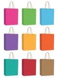 Polka dot bags Royalty Free Stock Photos