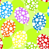Polka dot balloons seamless background. Patterned polka dots balloons background Stock Images