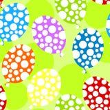 Polka dot balloons seamless background Stock Images