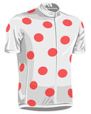 Polka dot bicycle jersey. Polka dot pattern bicycle jersey used in tour de france by professional riders royalty free illustration