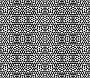 Polka dot black and white seamless pattern design Stock Photography
