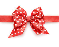 Polka dot bow Stock Photography
