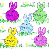 Polka dot bunnies Royalty Free Stock Image