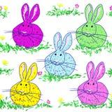 Polka dot bunnies Royalty Free Stock Image