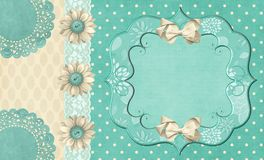 Polka Dot Button Daisy Frame Mat Royalty Free Stock Photos