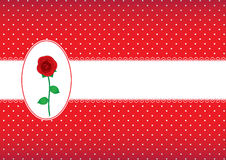 Polka dot card with rose Royalty Free Stock Images