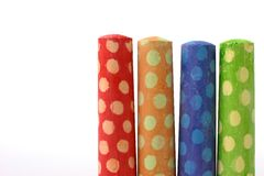 Polka dot chalk Stock Photo