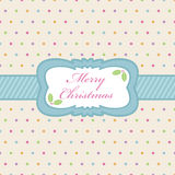 Polka dot christmas Stock Images