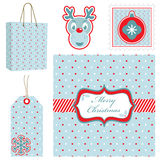 Polka dot christmas set Royalty Free Stock Photography