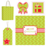 Polka dot christmas set Royalty Free Stock Photos