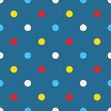 Polka-dot circle pattern cartoon. Royalty Free Stock Image