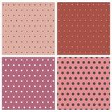 Polka dot collection Royalty Free Stock Photos