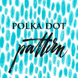 Polka dot color pencil pattern Stock Images