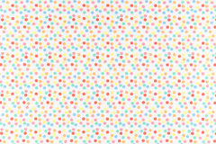 Polka dot. Colorful dots over white Polka dot fabric background and texture Stock Photography
