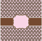 Polka dot design Stock Photography