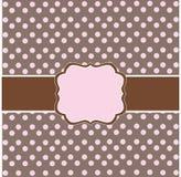 Polka dot design. Pink frame Stock Photography
