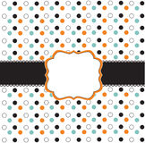 Polka dot design with black elements stock illustration