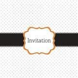 Polka dot design with black elements. Frame Stock Image