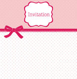 Polka dot design with bow. Card Royalty Free Stock Images