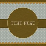 Polka dot design, brown vintage frame Royalty Free Stock Photography