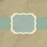 Polka dot design, brown vintage frame. EPS 8 stock illustration