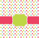 Polka dot design card Stock Photos