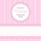 Polka dot. Design elements: seamless strips pattern, polka dot and border and round label Stock Images