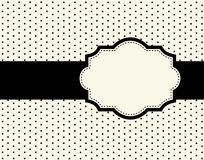 Polka dot design with frame. Cute polka dots frames / border s with black ribbons doodle frame / border