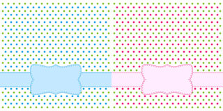 Polka dot design frames Stock Image