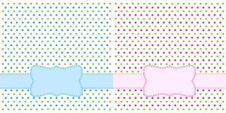 Polka dot design frames. For invitations Stock Image