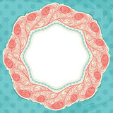 Polka dot design, vintage styled background. Royalty Free Stock Photography