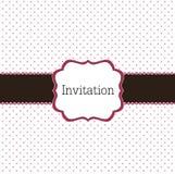 Polka dot design with violet elements stock illustration