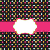 Polka Dot Design With Frame Royalty Free Stock Image