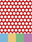 Polka dot, dotted backgrounds. Repeatable patterns with circles vector illustration