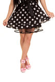 Polka dot dres pink shoes Stock Photography