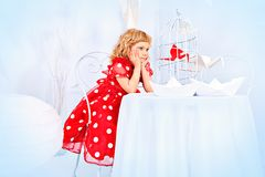 Polka-dot dress Stock Images