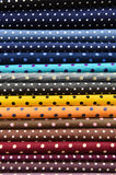 Polka dot fabric for background Stock Image