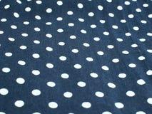 Polka dot fabric background Stock Photos