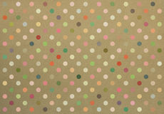 Polka dot fabric background Royalty Free Stock Images
