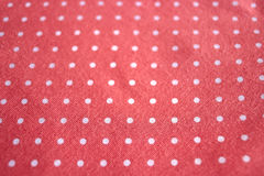 Polka dot fabric Stock Images