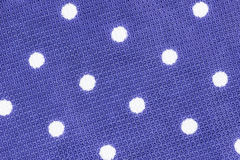 Polka dot fabric texture Stock Photo