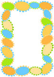 Polka dot flowers border frame. Polka dots flowers frame with inner space to write message or pin image Royalty Free Stock Photo